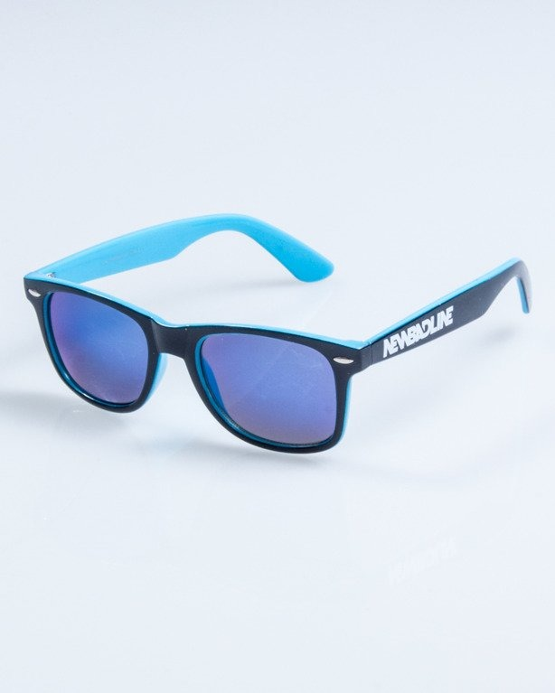 OKULARY CLASSIC INSIDE BLACK-BLUE FLASH BLUE MIRROR 748