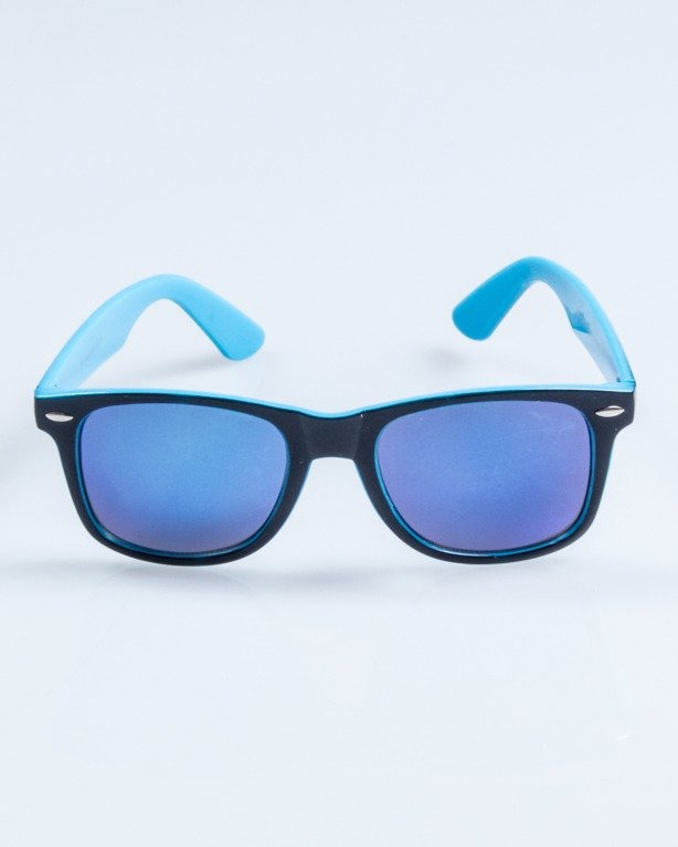 OKULARY CLASSIC INSIDE BLACK-BLUE FLASH BLUE MIRROR 748