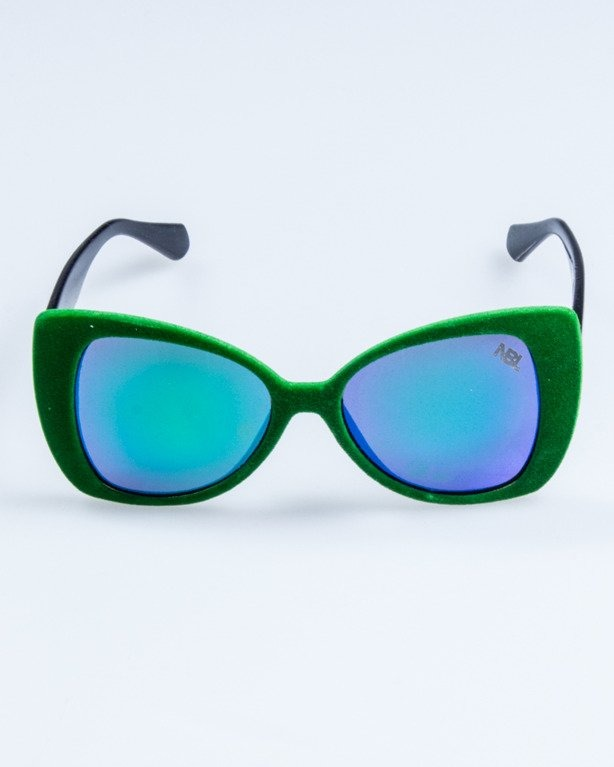 OKULARY LADY ZAMSZ BLACK-GREEN GREEN MIRROR 741
