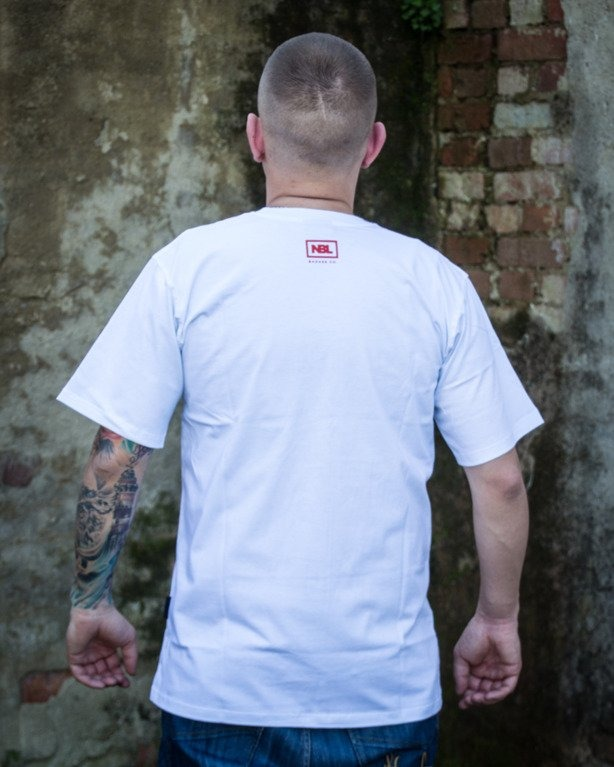 T-SHIRT CLASSIC WHITE-RED