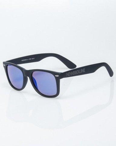 OKULARY CLASSIC BLACK RUBBER BLUE MIRROR 1215