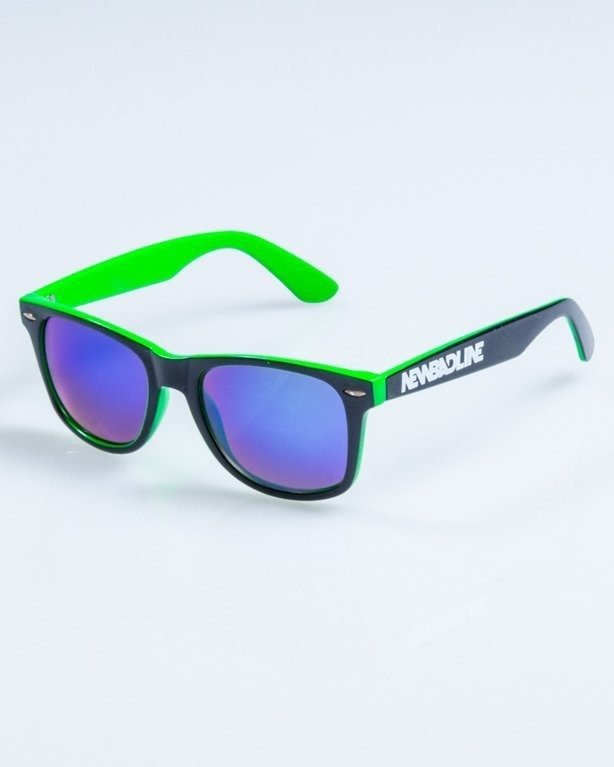 OKULARY CLASSIC INSIDE BLACK-GREEN FLASH GREEN MIRROR 752