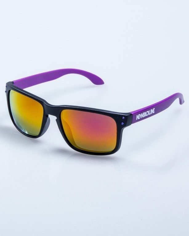 OKULARY FREESTYLE POINT BLACK-VIOLET MAT PINK MIRROR 588