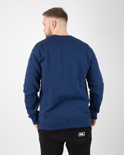 BLUZA BEZ KAPTURA TAPE NAVY