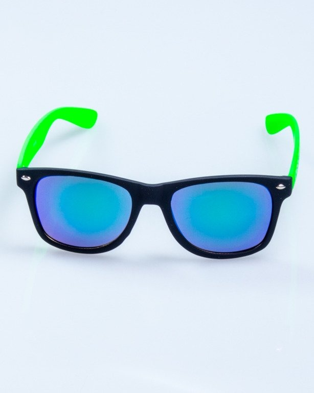 CLASSIC HALF BLACK-GREEN RUBBER GREEN MIRROR 555