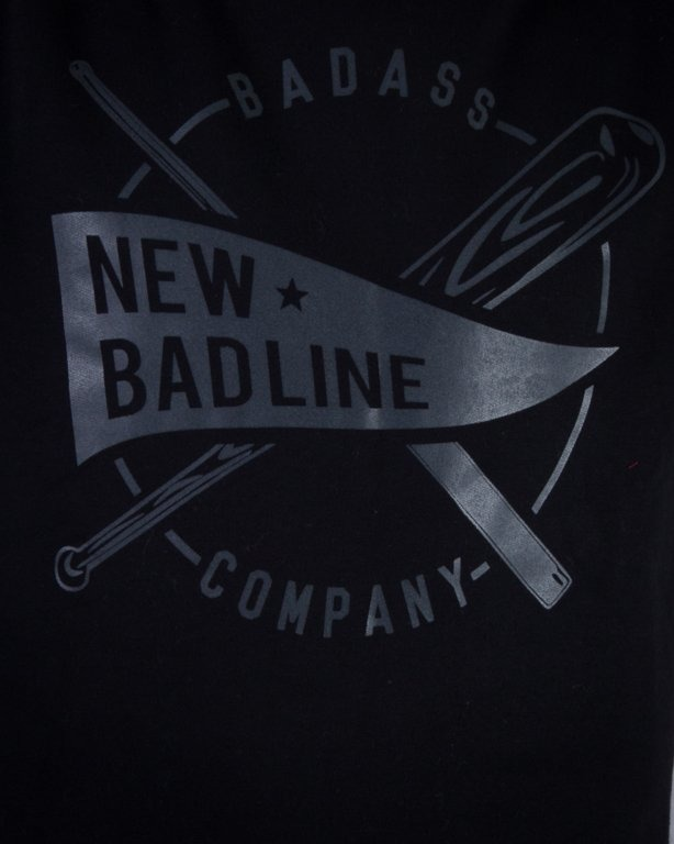 NEW BAD LINE BLUZA BEZ KAPTURA BASEBALL BLACK ON BLACK