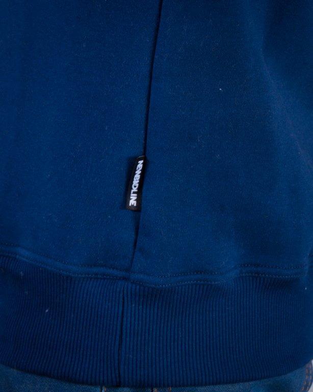 NEW BAD LINE BLUZA BEZ KAPTURA MARKER NAVY BLUE-CAMEL