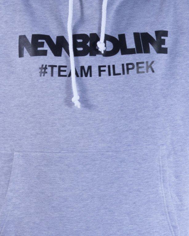 NEW BAD LINE BLUZA Z KAPTUREM #TEAMFILIPEK MELANGE