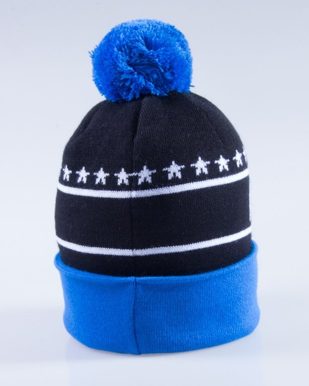 NEW BAD LINE CZAPKA ZIMOWA SWAG BLACK-BLUE