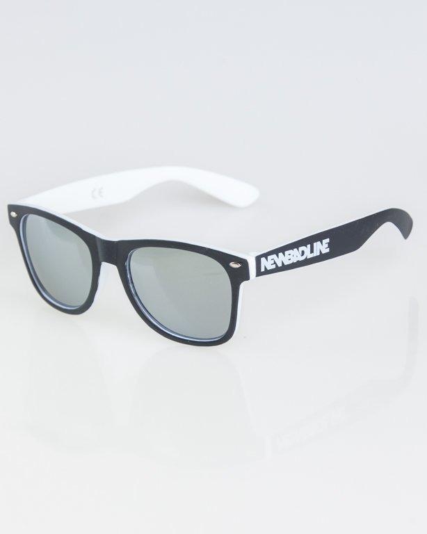 OKKULARY CLASSIC INSIDE BLACK-WHITE MAT SILVER MIRROR 1276