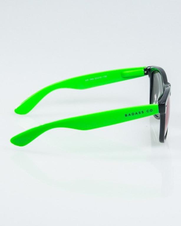 OKUALRY CLASSIC HALF BLACK-GREEN FLASH GREEN MIRROR 1166
