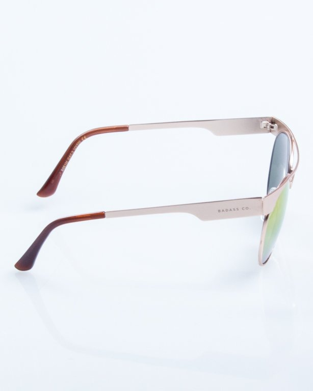 OKULARY AMBER GOLD PINK MIRROR 782