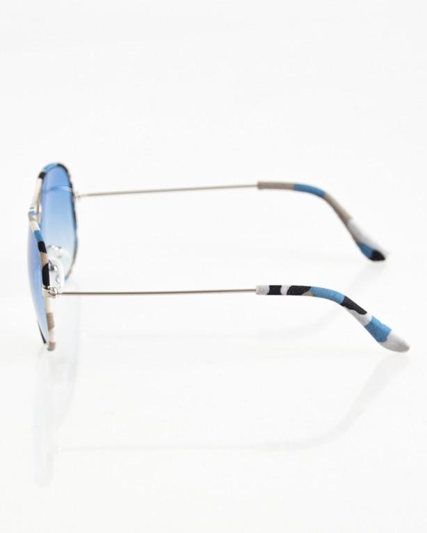 OKULARY AVIATOR CAMO SILVER-BLUE MORO BLUE TONAL 056