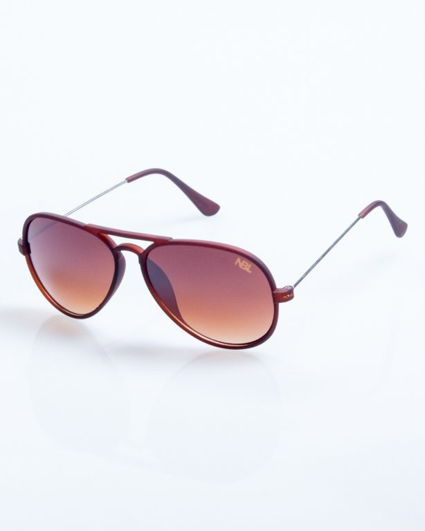 OKULARY AVIATOR TRAVEL BROWN RUBBER BROWN 794