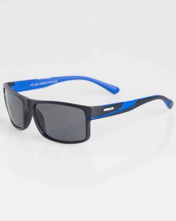 OKULARY BLOOM BLACK-BLUE MAT BLACK 1296