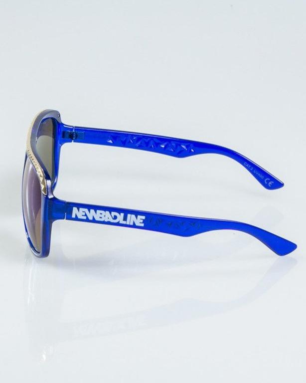 OKULARY BRILLIANT GOLD-BLUE FLASH BLUE MIRROR 1108