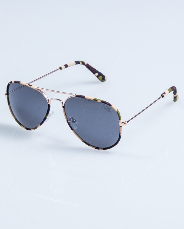 OKULARY CAMO METAL GOLD-CLASSIC BLACK 685