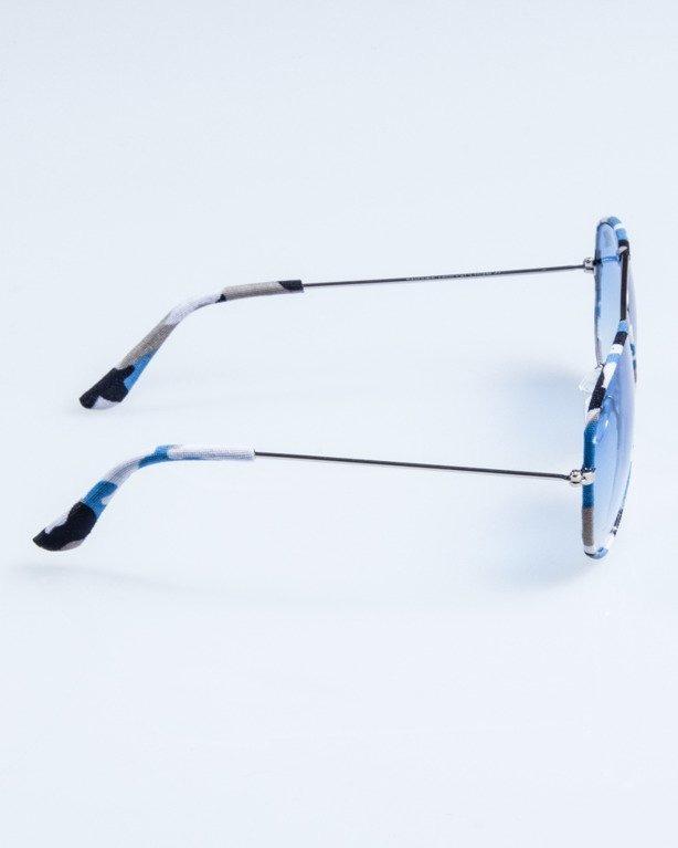 OKULARY CAMO METAL SILVER-BLUE BLUE 687