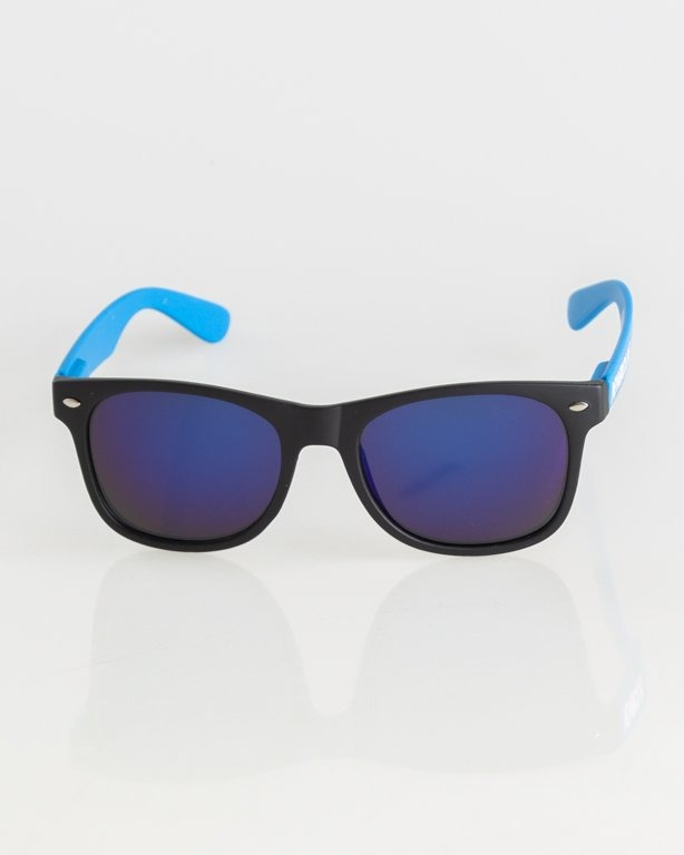 OKULARY CLASSIC BLACK-BLUE MAT BLUE MIRROR 005