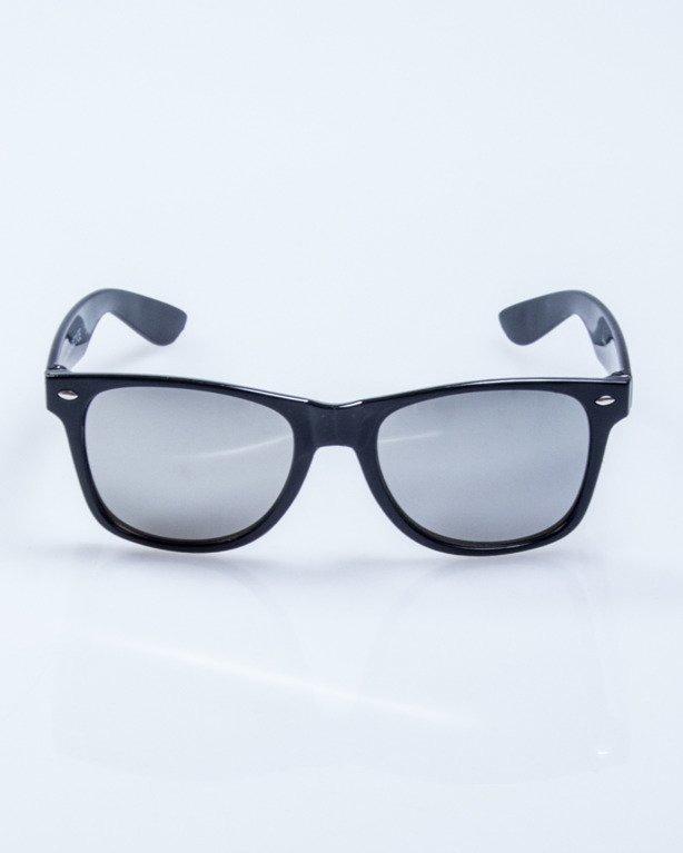 OKULARY CLASSIC BLACK FLASH SILVER MIRROR 501