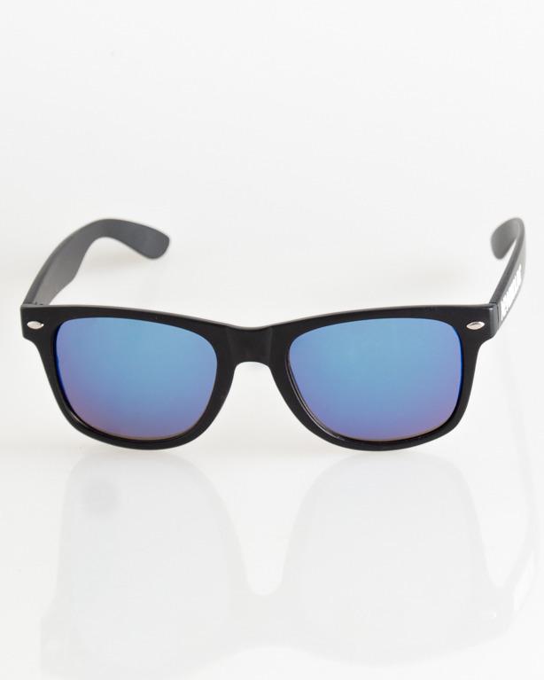OKULARY CLASSIC BLACK MAT BLUE MIRROR 032
