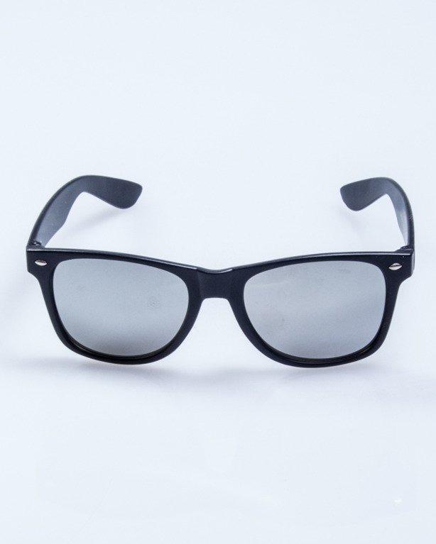 OKULARY CLASSIC BLACK MAT SILVER MIRROR 505