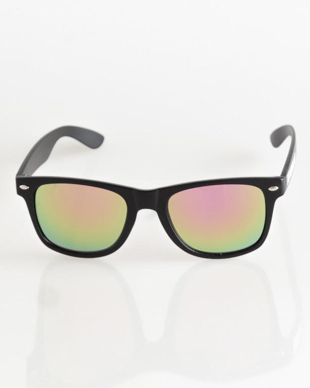 OKULARY CLASSIC BLACK MAT YELLOW-PINK MIRROR 036