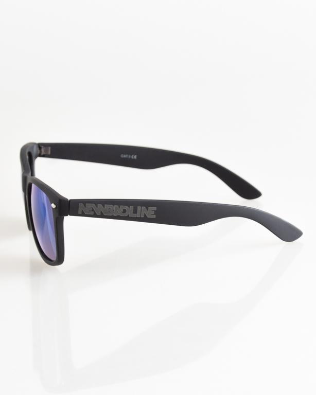 OKULARY CLASSIC BLACK RUBBER BLUE MIRROR 041