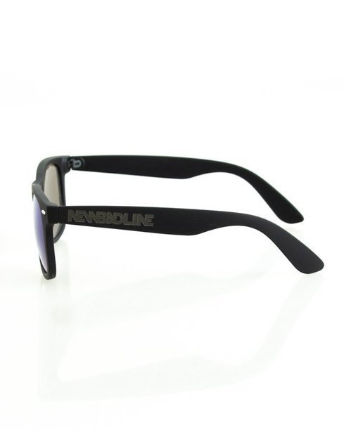 OKULARY CLASSIC BLACK RUBBER BLUE MIRROR 129