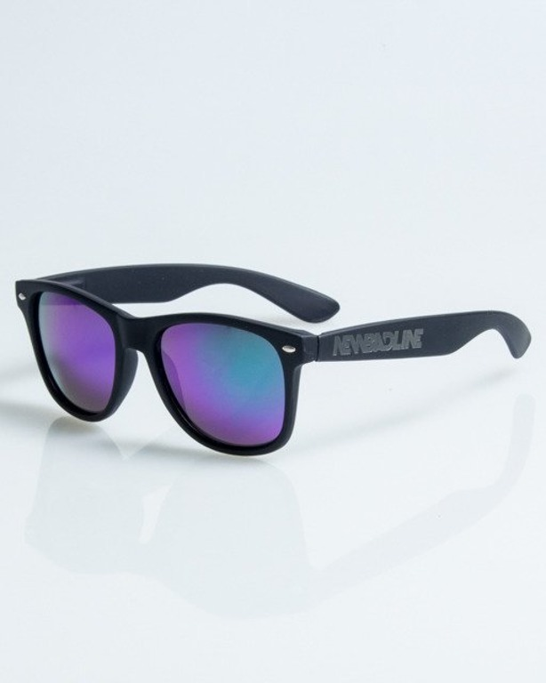 OKULARY CLASSIC BLACK RUBBER GREEN-VIOLET 1089