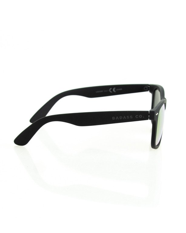 OKULARY CLASSIC BLACK RUBBER RED MIRROR 130