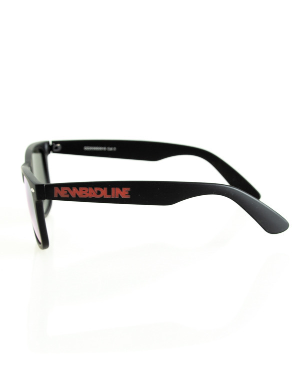 OKULARY CLASSIC BLACK RUBBER RED MIRROR 208