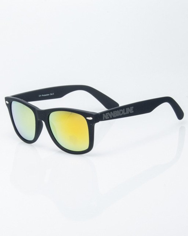 OKULARY CLASSIC BLACK RUBBER YELLOW MIRROR 1188