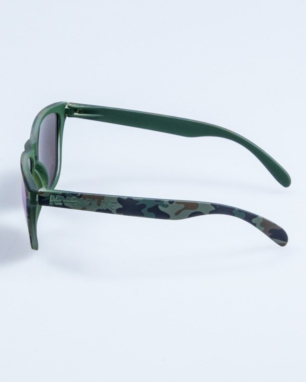 OKULARY CLASSIC CAMO GREEN RUBBER GREEN MIRROR 682