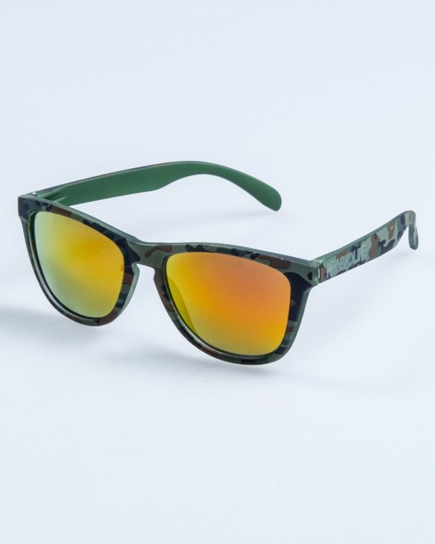 OKULARY CLASSIC CAMO GREEN RUBBER PINK MIRROR 679