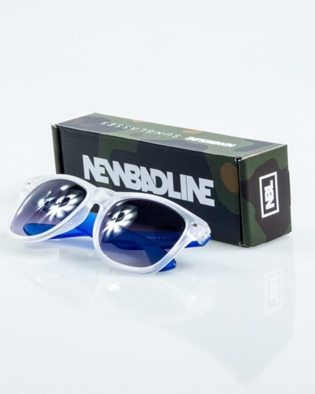 OKULARY CLASSIC CLEAR BLUE MAT HALF BLACK 1052