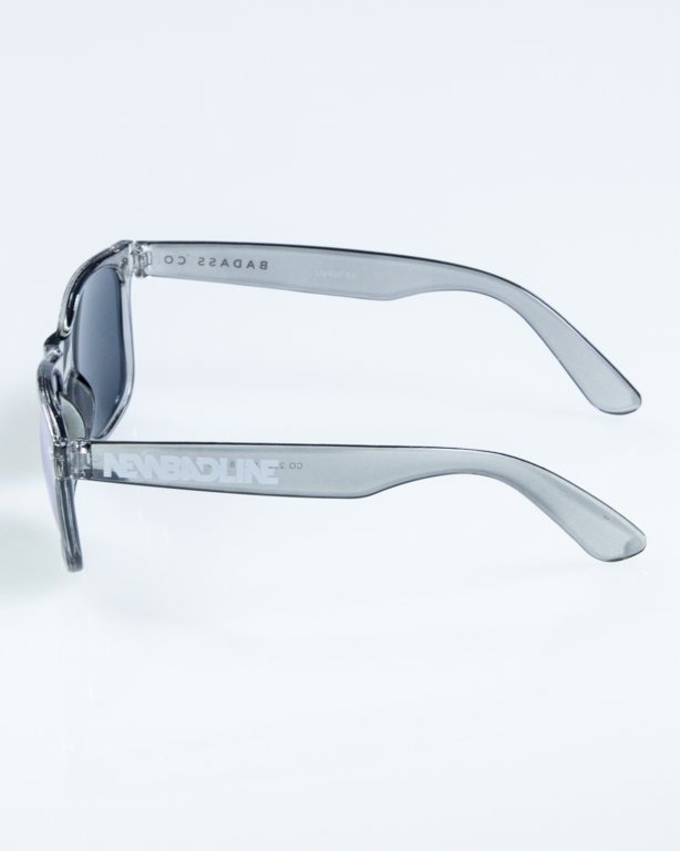 OKULARY CLASSIC CLEAR GREY RED MIRROR 856