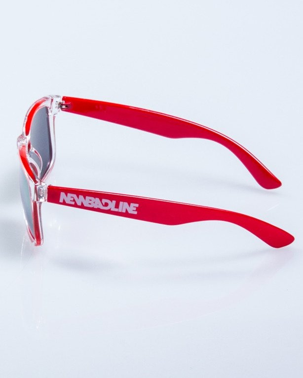 OKULARY CLASSIC CLEAR RED FLASH RED MIRROR 537