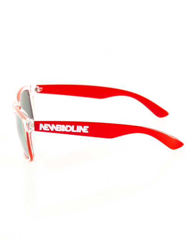 OKULARY CLASSIC CLEAR RED FLASH YELLOW 125