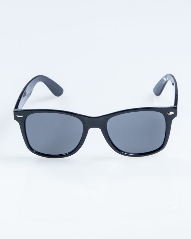 OKULARY CLASSIC FLAT BLACK FLASH BLACK 877