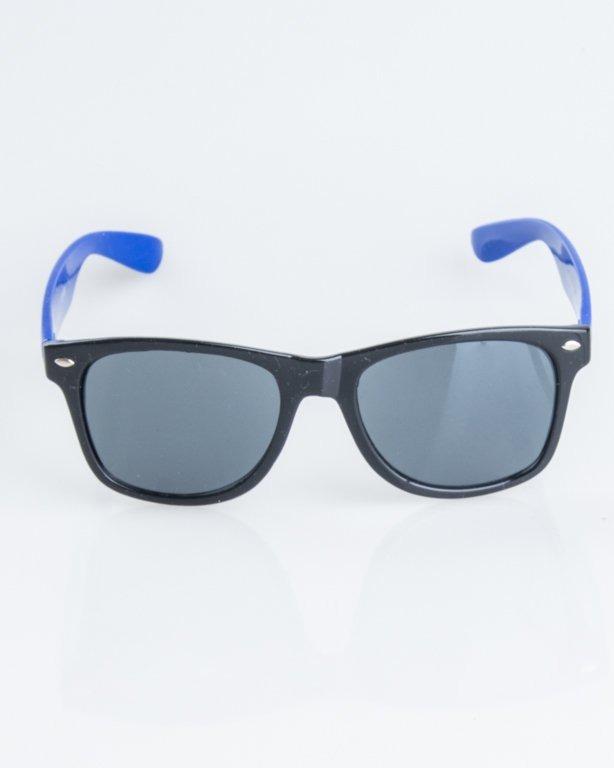 OKULARY CLASSIC HALF BLACK-BLUE FLASH BLACK 1248