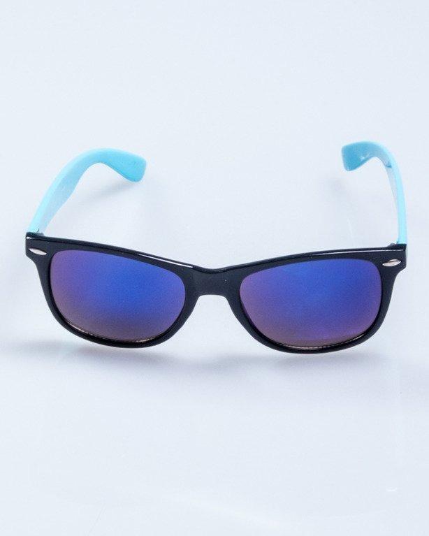 OKULARY CLASSIC HALF BLACK-BLUE FLASH BLACK 641