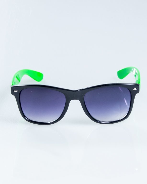 OKULARY CLASSIC HALF  BLACK-GREEN FLASH BLACK HALF 834