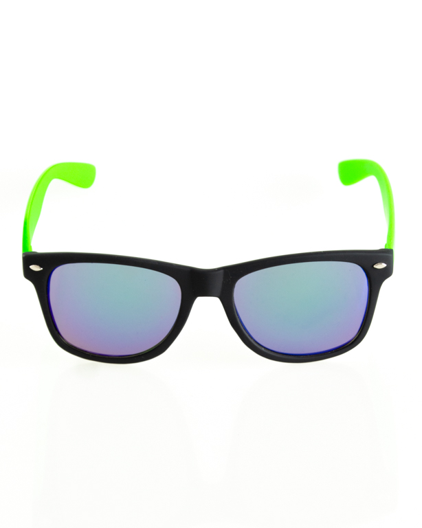 OKULARY CLASSIC HALF BLACK-GREEN RUBBER BLUE 112