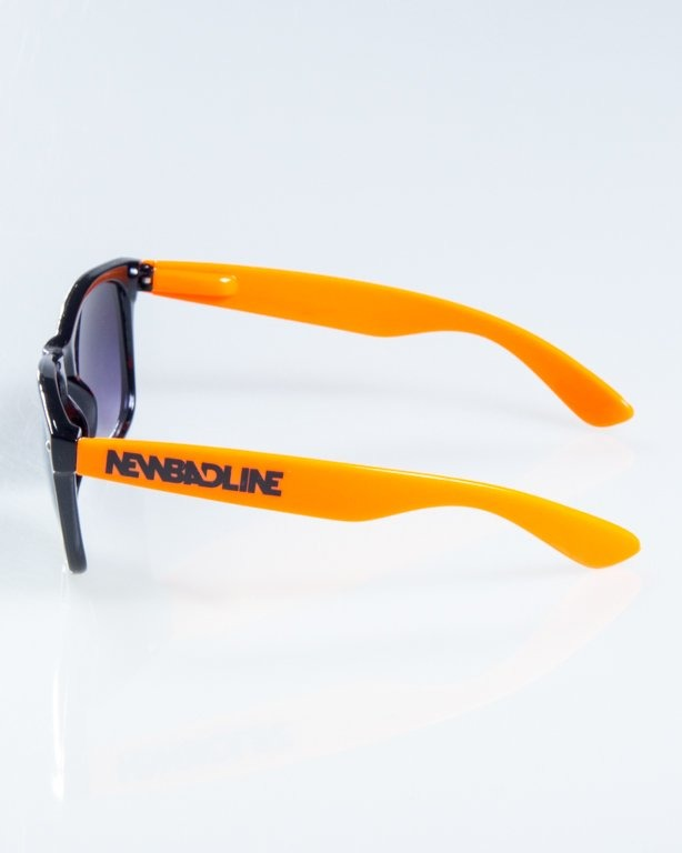 OKULARY CLASSIC HALF  BLACK-ORANGE FLASH BLACK HALF 833