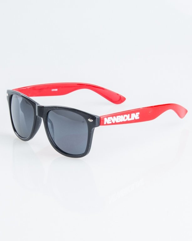 OKULARY CLASSIC HALF BLACK-RED FLASH BLACK 1249