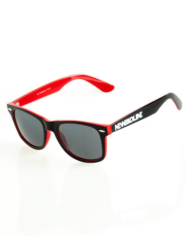 OKULARY CLASSIC INSIDE BLACK-RED FLASH BLACK 164