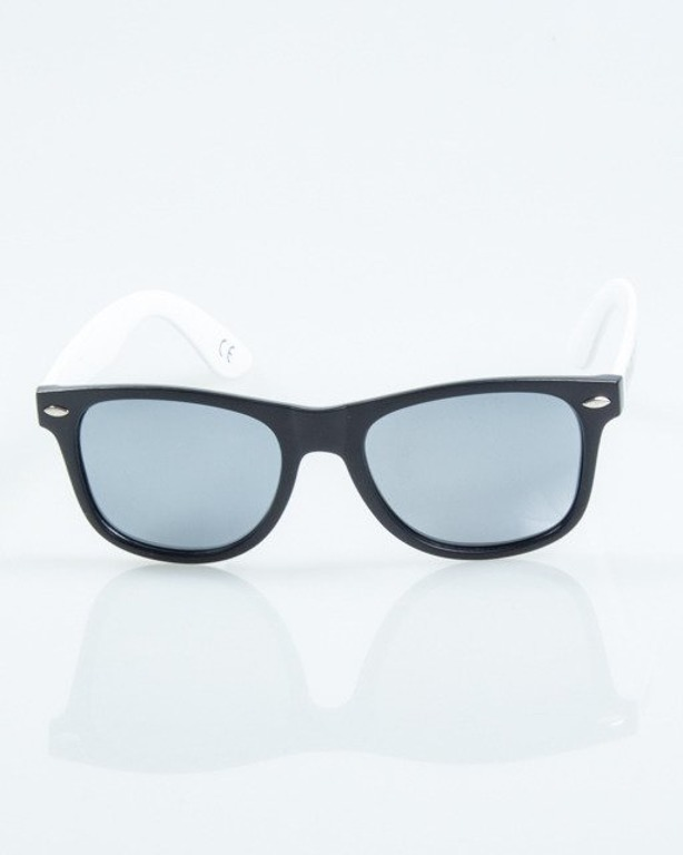 OKULARY CLASSIC HALF BLACK-WHITE MAT TSILVER MIRROR POLARIZED 1027