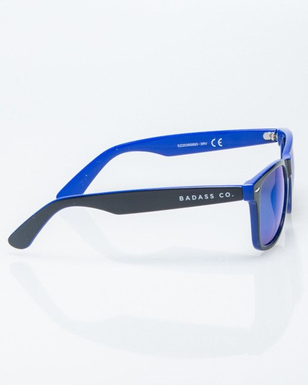 OKULARY CLASSIC INSIDE BLACK-BLUE FLASH BLUE MIRROR 1213