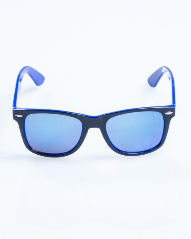 OKULARY CLASSIC INSIDE BLACK-BLUE FLASH BLUE MIRROR 823